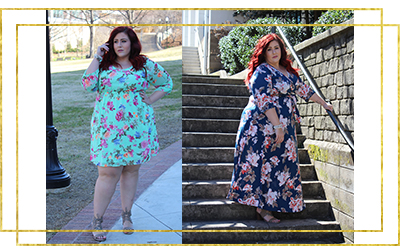 70604516fcf PinkBlush Plus Size Floral Dresses and Giveaway