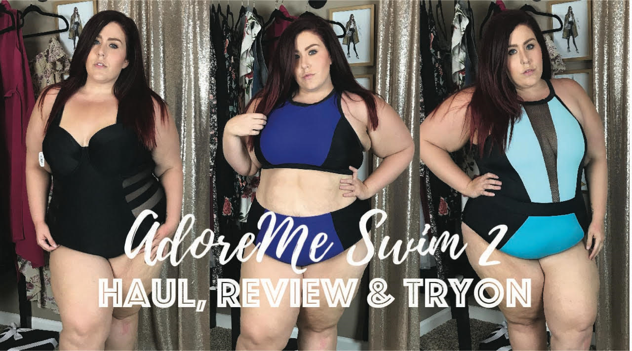 fa4f4f8da9 AdoreMe - Plus Size Swim Try On and Review | Curves, Curls and Clothes