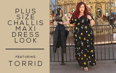 895e1ccd0cb Plus Size Challis Maxi Dress